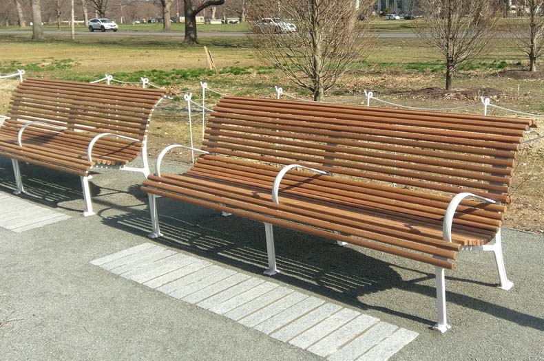 Installed benches in Centennial Park